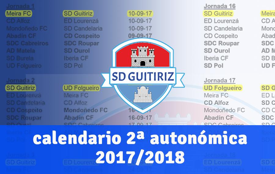 Calendario 2017/2018 2ª Autonómica